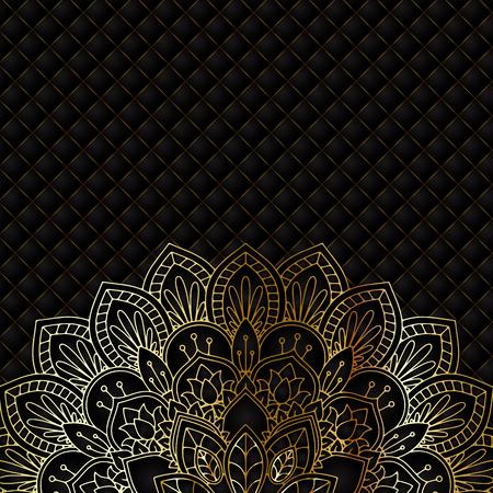 Decorative luxury background with mandala design Stock Photo