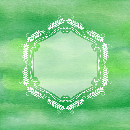 Decorative frame on a watercolour texture background
