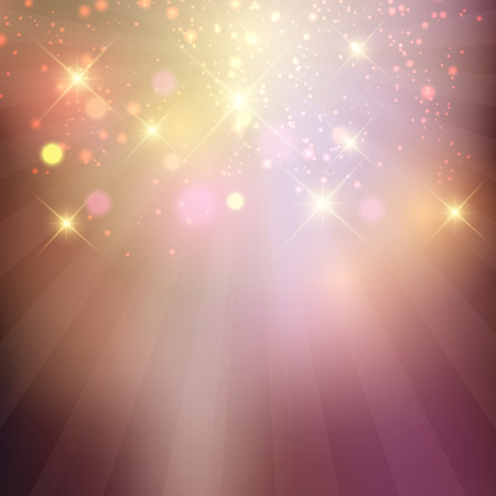 Decorative background with glowing stars