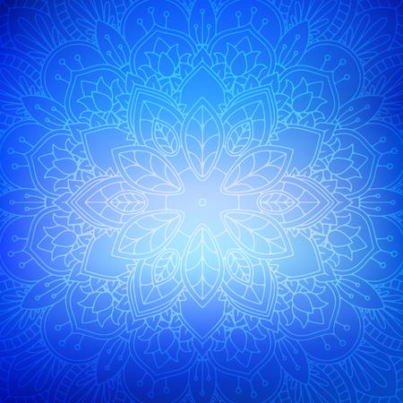 Decorative background with elegant mandala design