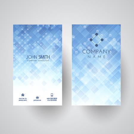 Business card with a modern lattice design