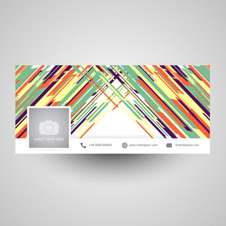 Social media cover with abstract design Stock Photo