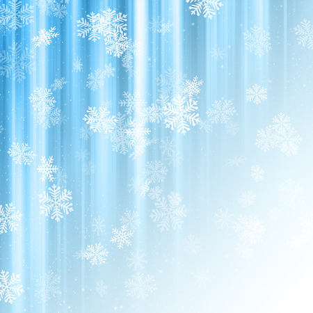 Decorative Christmas background with snowflakes Stock Photo