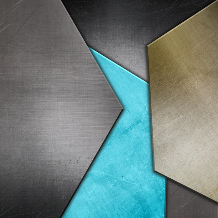 Abstract background with metallic textures