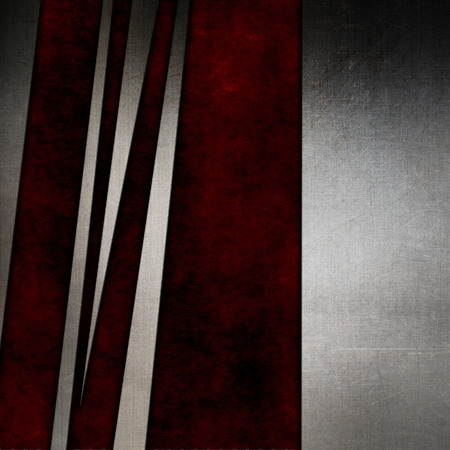 Abstract metallic texture on a grunge red background