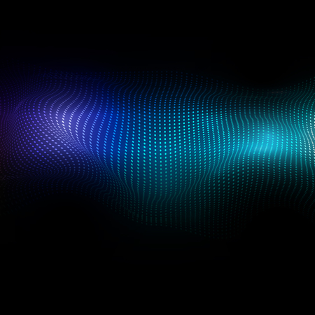 Abstract background with a flowing dots design
