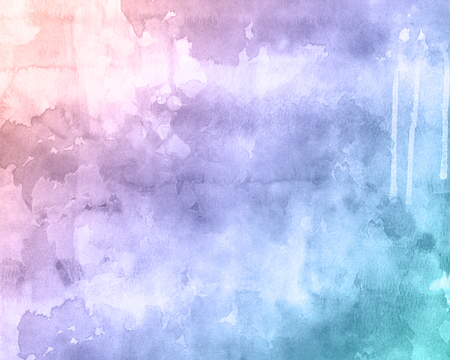 Detailed watercolour texture background with drips and stains