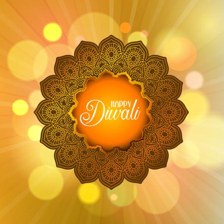 Decorative Diwali background with mandala frame