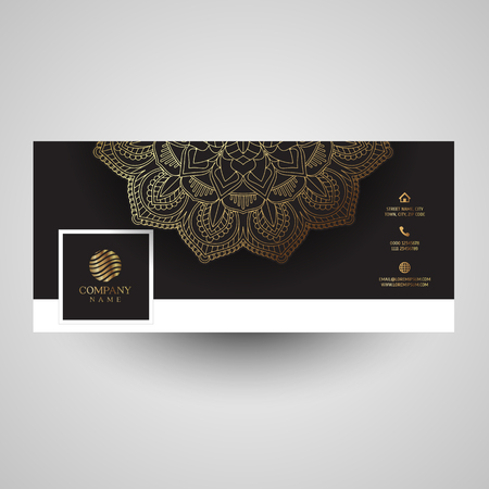 Social media cover with decorative mandala design