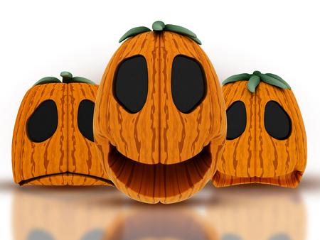 3D render of Halloween pumpkins