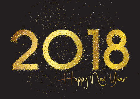 Glittery Happy New Year background Stock Photo