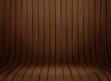3D render of a curved wooded presentation background Imagens