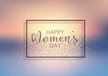 International Womens Day background with gold glitter Stock Photo