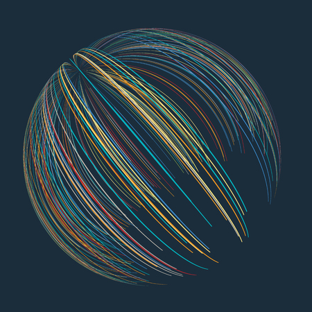 Abstract design of sphere of lines
