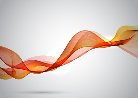 Abstract background with orange flowing waves Stock Photo