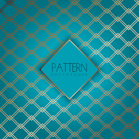 Elegant pattern background with an art deco style design