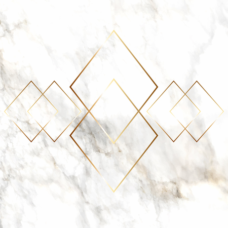 Gold diamond pattern on a elegant marble texture