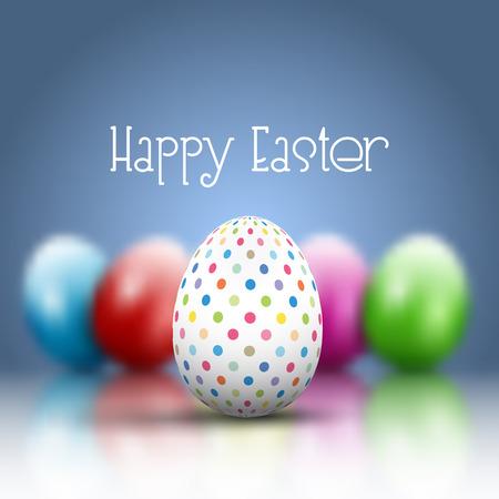 Easter egg on a defocussed background
