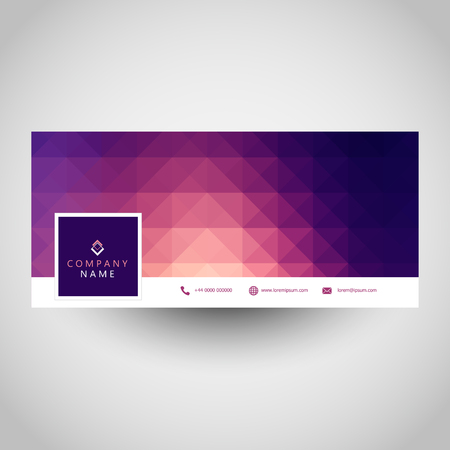 Social media cover with low poly geometric design