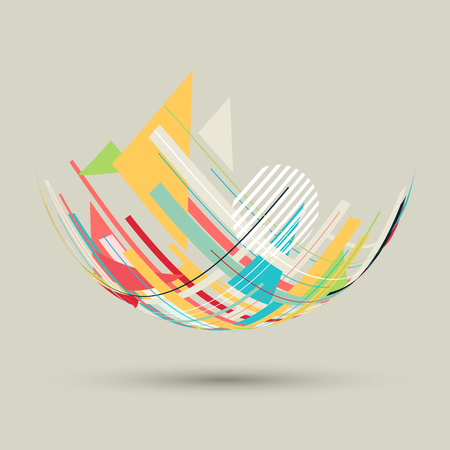 Design background with abstract shapes