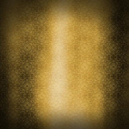 Gold metallic texture background with decorative pattern design