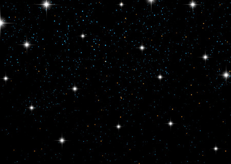 Background of a night sky with twinkling stars