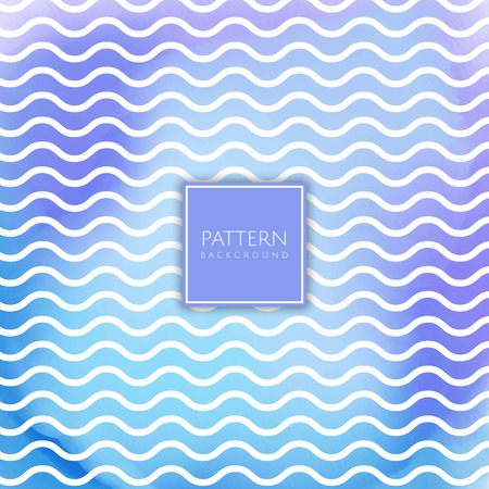 Wavy lines pattern on a watercolour texture background