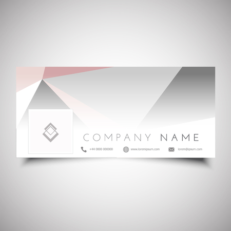 Social media timeline cover design with low poly design Stock Photo