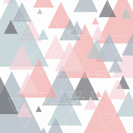 Scandinavian style abstract triangular art background