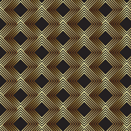 Abstract art deco design background in gold and black