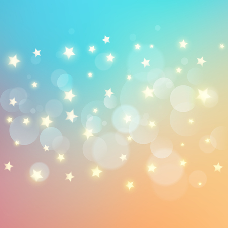Abstract background with bokeh lights and stars