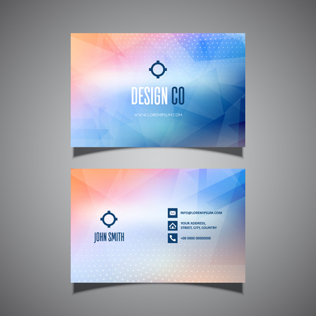 Business card with a modern low poly design
