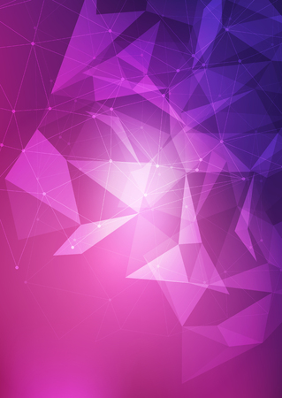 Abstract background with low poly mesh design