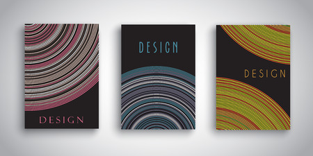 Brochure templates with abstract striped designs