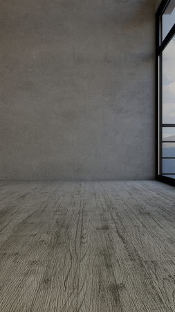 3D render of an empty room Stock Photo
