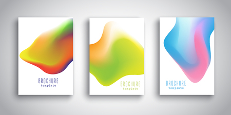 Brochure templates with abstract 3D fluid styled designs