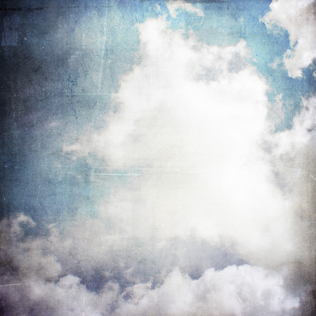 Grunge style background of sky and clouds