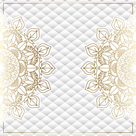 Elegant background with decorative gold mandala design