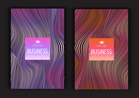 Brochure templates with warped line designs