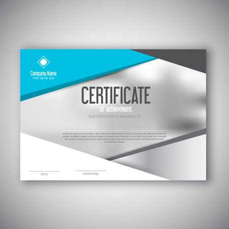Certificate template with a modern design Stock Photo