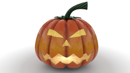 3d render of Stylised Jack-o-latern pumpkin