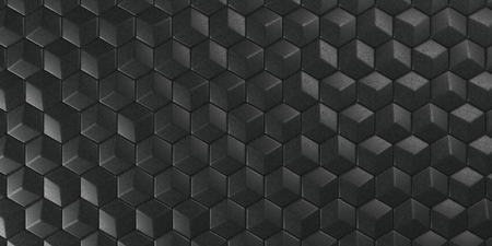 Render of 3D Geometric Abstract Hexagonal Wallpaper Background