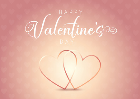 Valentine's Day background with hearts design Imagens