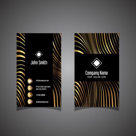 Business card with a modern warped striped design