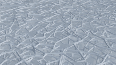 Render of 3D Abstract Chaotic Elements