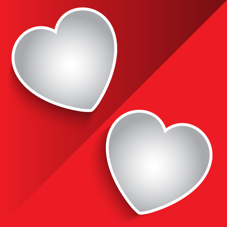 Valentines Day background with heart shaped photo frames