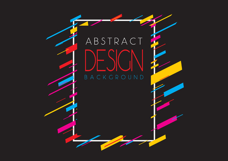 Abstract background with a retro colourful design