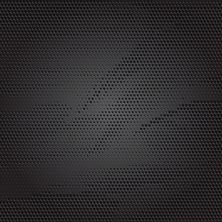 Abstract background with a perforated metallic texture