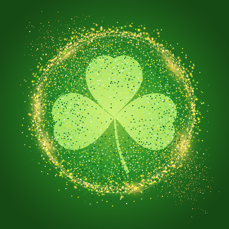 St Patrick's Day background with shamrock shape