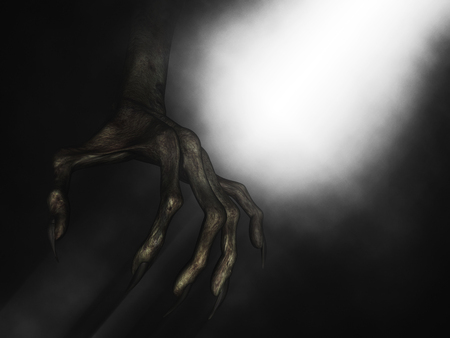 3D render of a close up of demonic hand with claws Banco de Imagens - 118910974